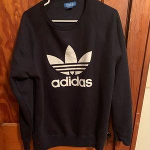 Adidas Trefoil Crewneck Sweater (Navy Blue)